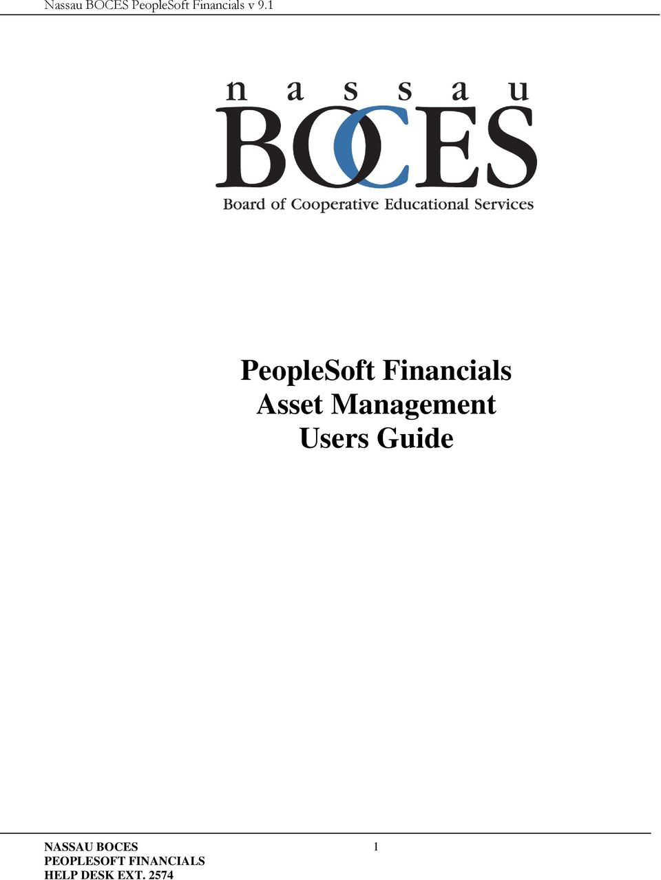 1 PeopleSoft Financials Asset Management Users Guide 1