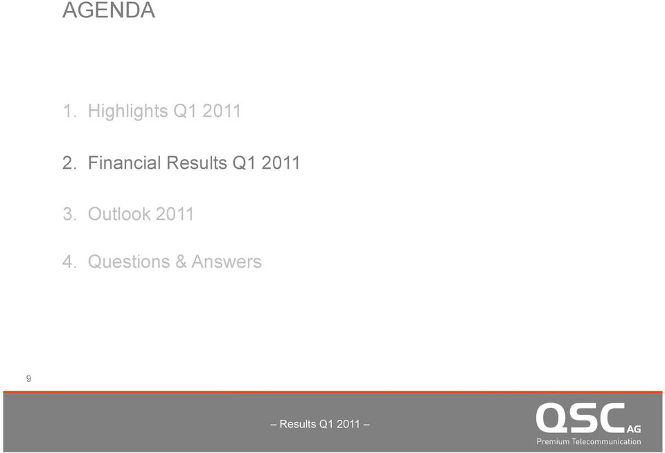 Financial Results Q1