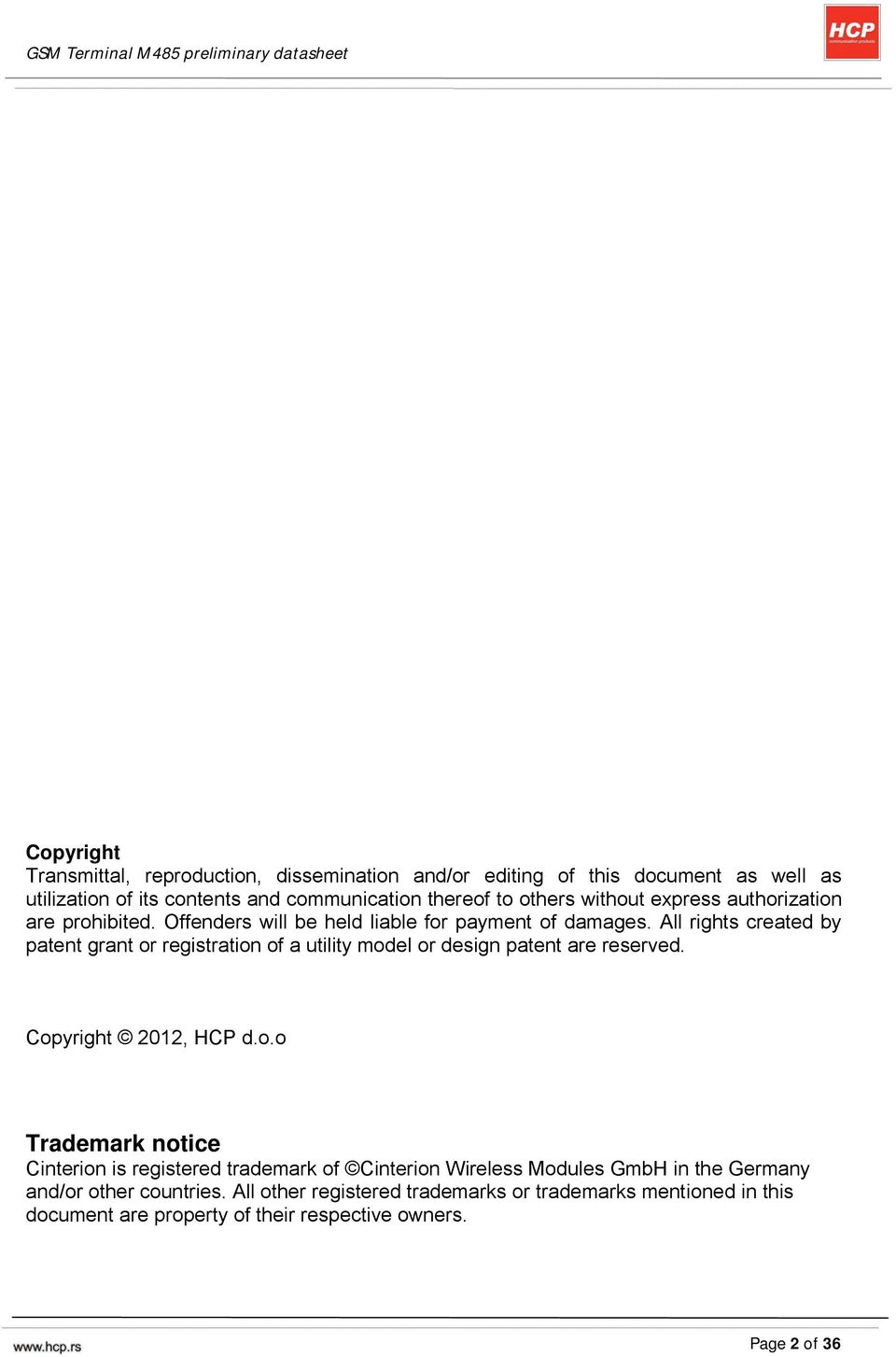 Gsm Terminal M485 Preliminary Datasheet Pdf 4541 All Rights Created By Patent Grant Or