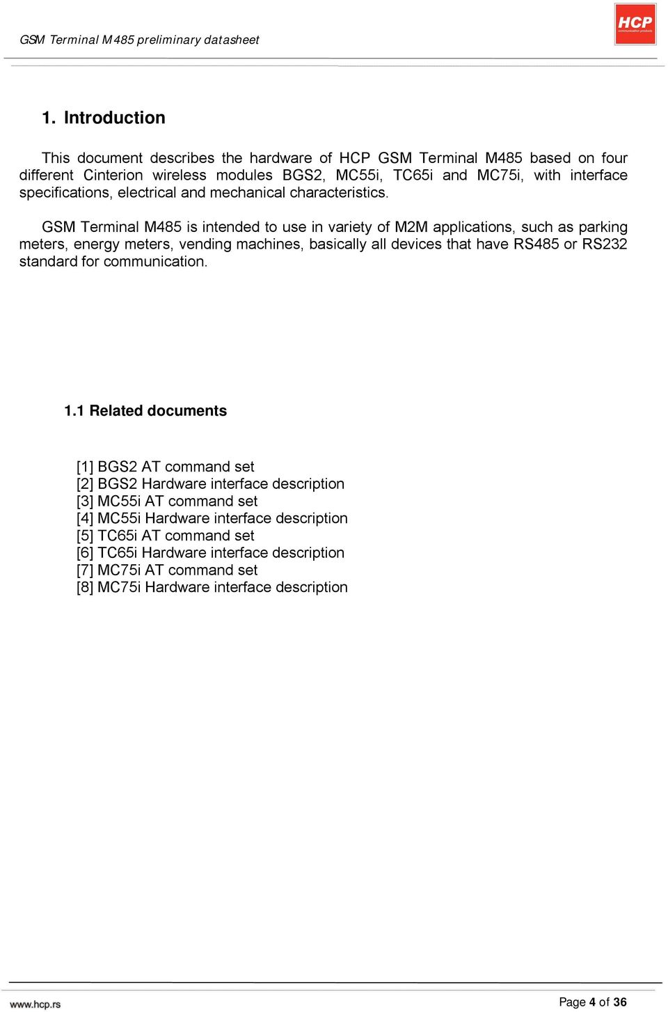 Gsm Terminal M485 Preliminary Datasheet Pdf 4541 Is Intended To Use In Variety Of M2m Applications Such As Parking