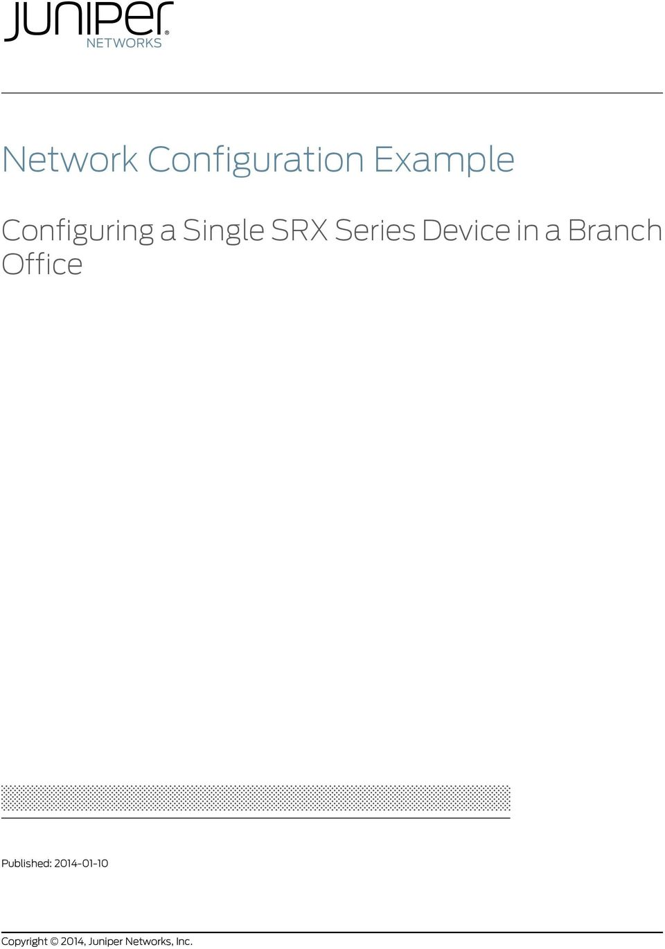 Network Configuration Example - PDF