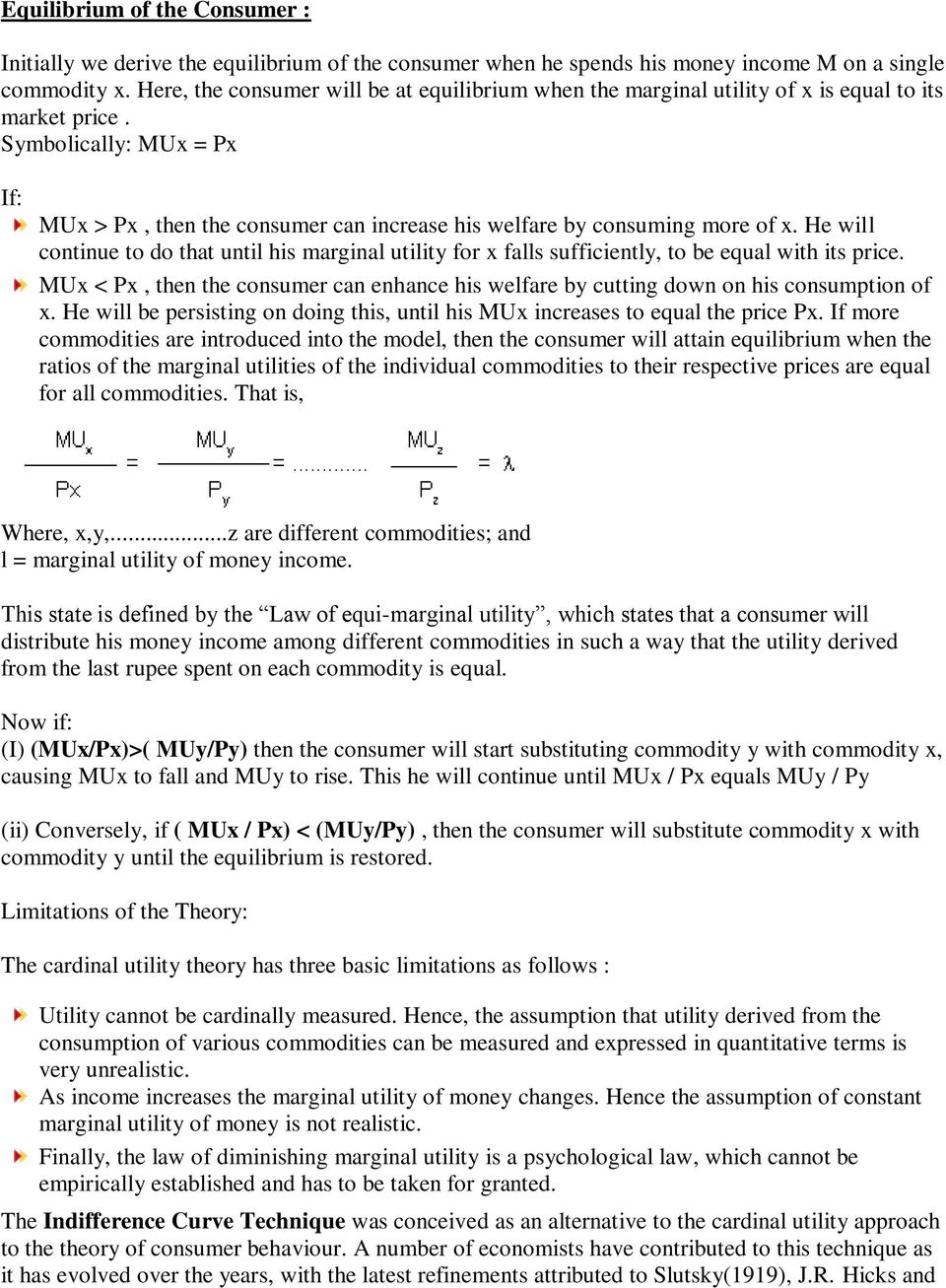 How the principle of commodity substitution basically works 41