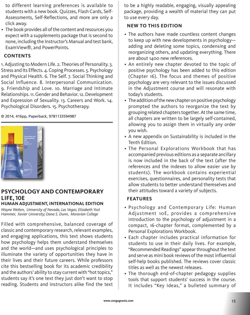 Psychology catalog psychology catalog pdf adjusting to modern life 2 theories of personality 3 stress and its fandeluxe Gallery