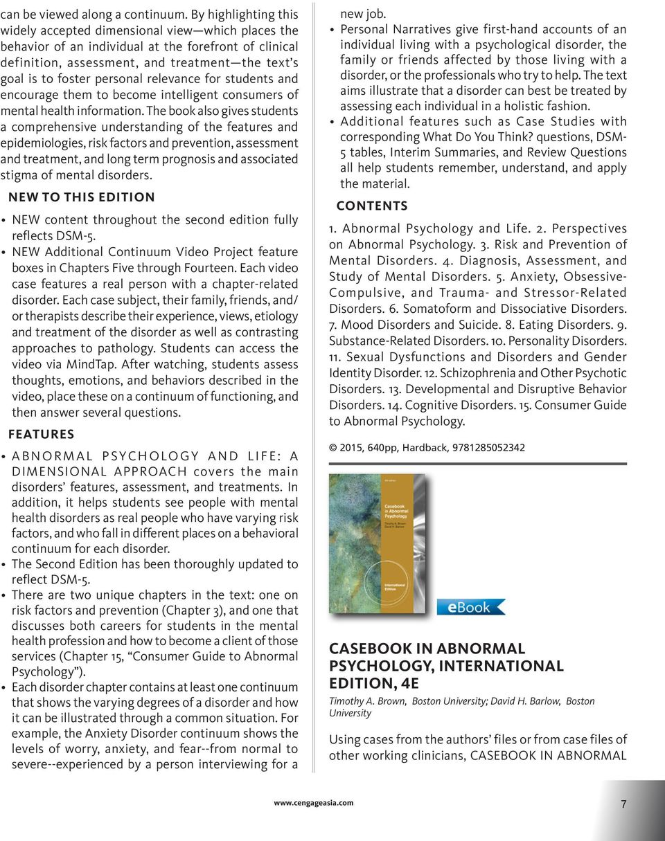 Psychology catalog psychology catalog pdf personal relevance for students and encourage them to become intelligent consumers of mental health information 10 psychology fandeluxe Images