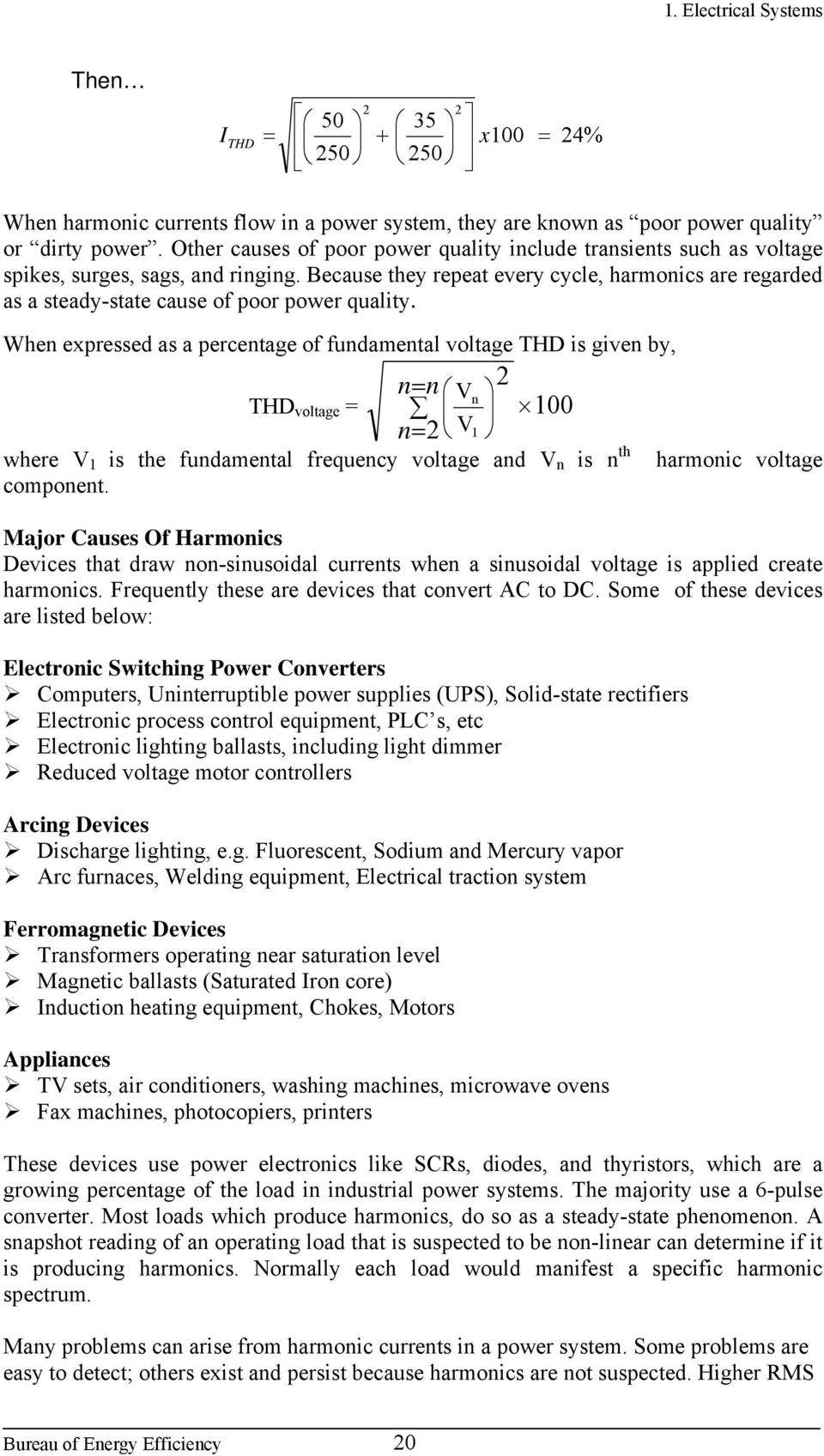 1 Electrical System Pdf Power Supplies And Voltage Regulators For Lowvoltages Heaters Because They Repeat Every Cycle Harmonics Are Regarded As A Steady State Cause Of 21 Current