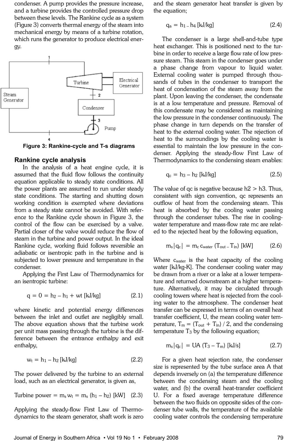 An Analysis Of A Thermal Power Plant Working On Rankine Cycle Electric Generator Diagram Principle Figure 3 And T S Diagrams In The