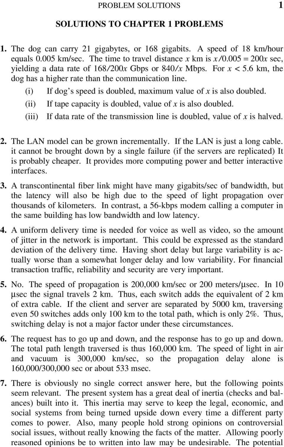 (i) If dog s speed is doubled, maximum value of x is also. 4 2 PROBLEM  SOLUTIONS ...
