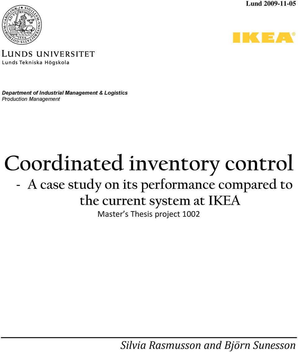 inventory management practices thesis