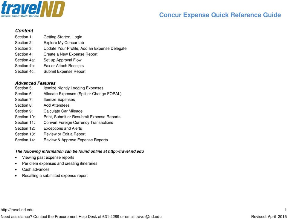 concur expense quick reference guide pdf