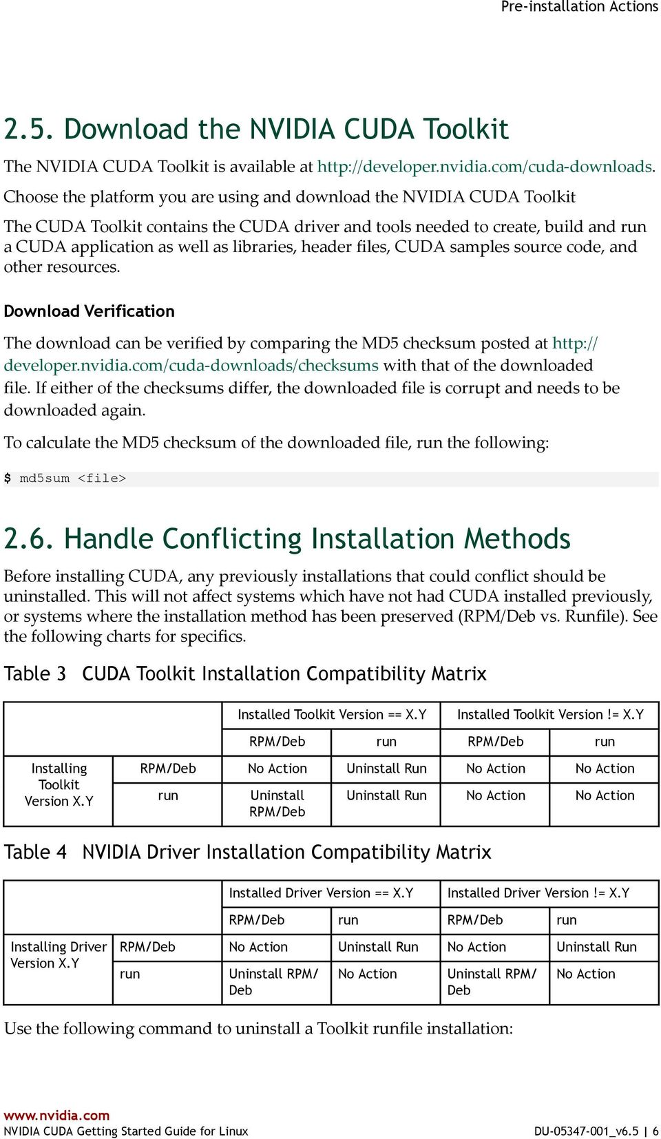 NVIDIA CUDA GETTING STARTED GUIDE FOR LINUX - PDF