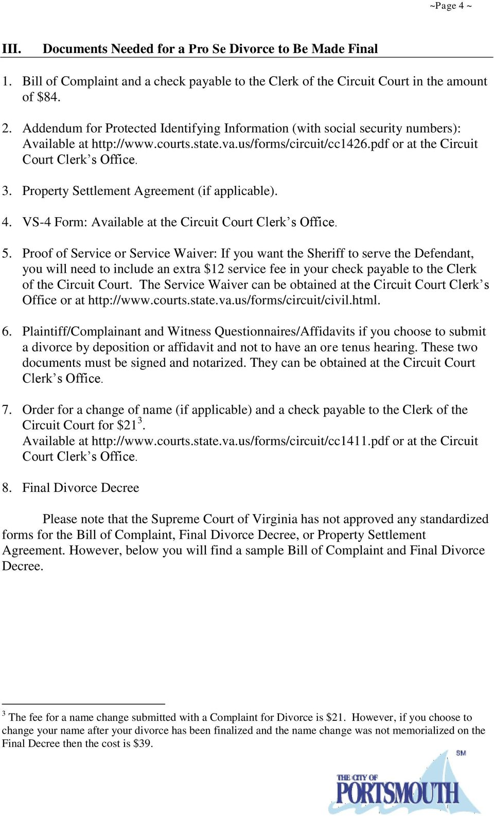 Circuit Court For The City Of Portsmouth Pdf