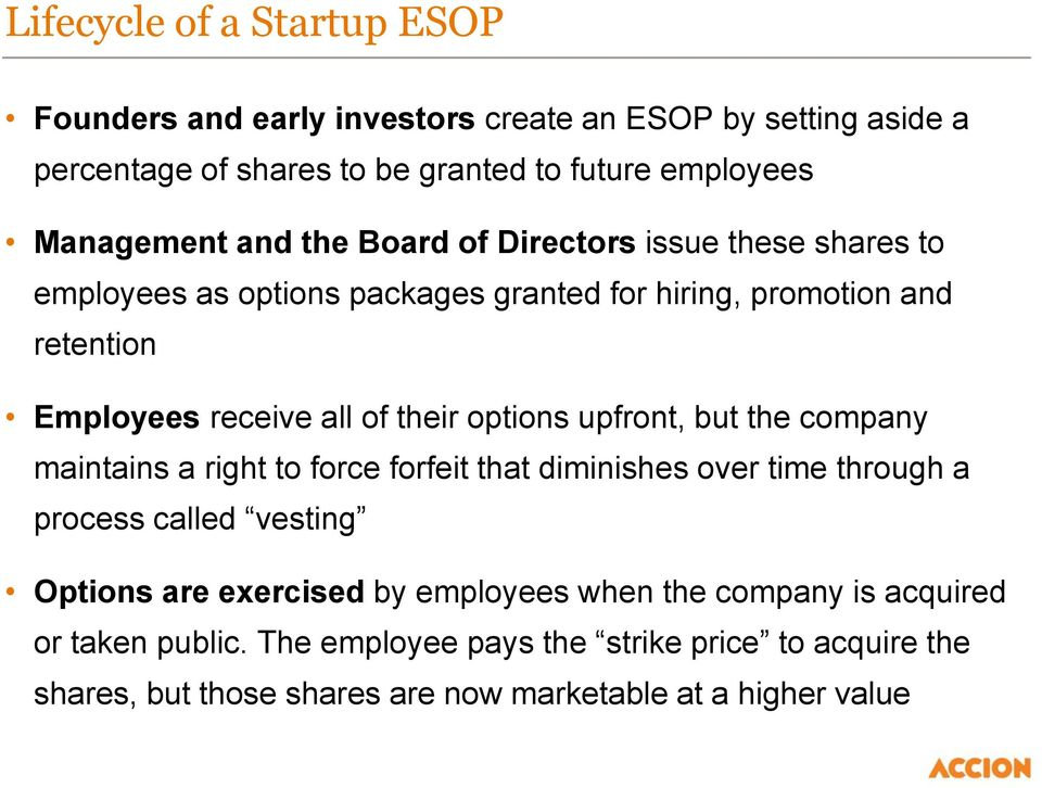 Startup Employee Stock Options Plans (ESOPs) Overview and