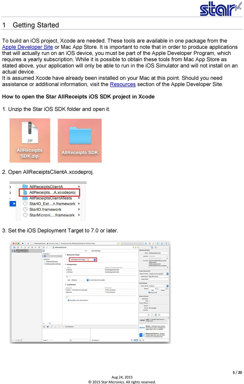 Star Micronics Cloud Services ios SDK User's Manual - PDF