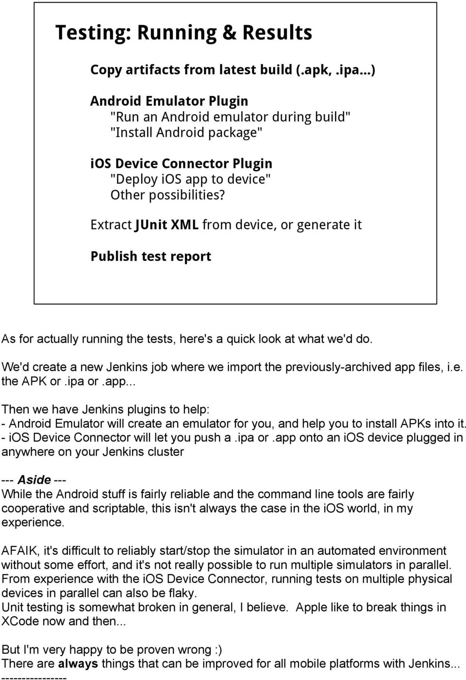 Building, testing and deploying mobile apps with Jenkins & friends - PDF