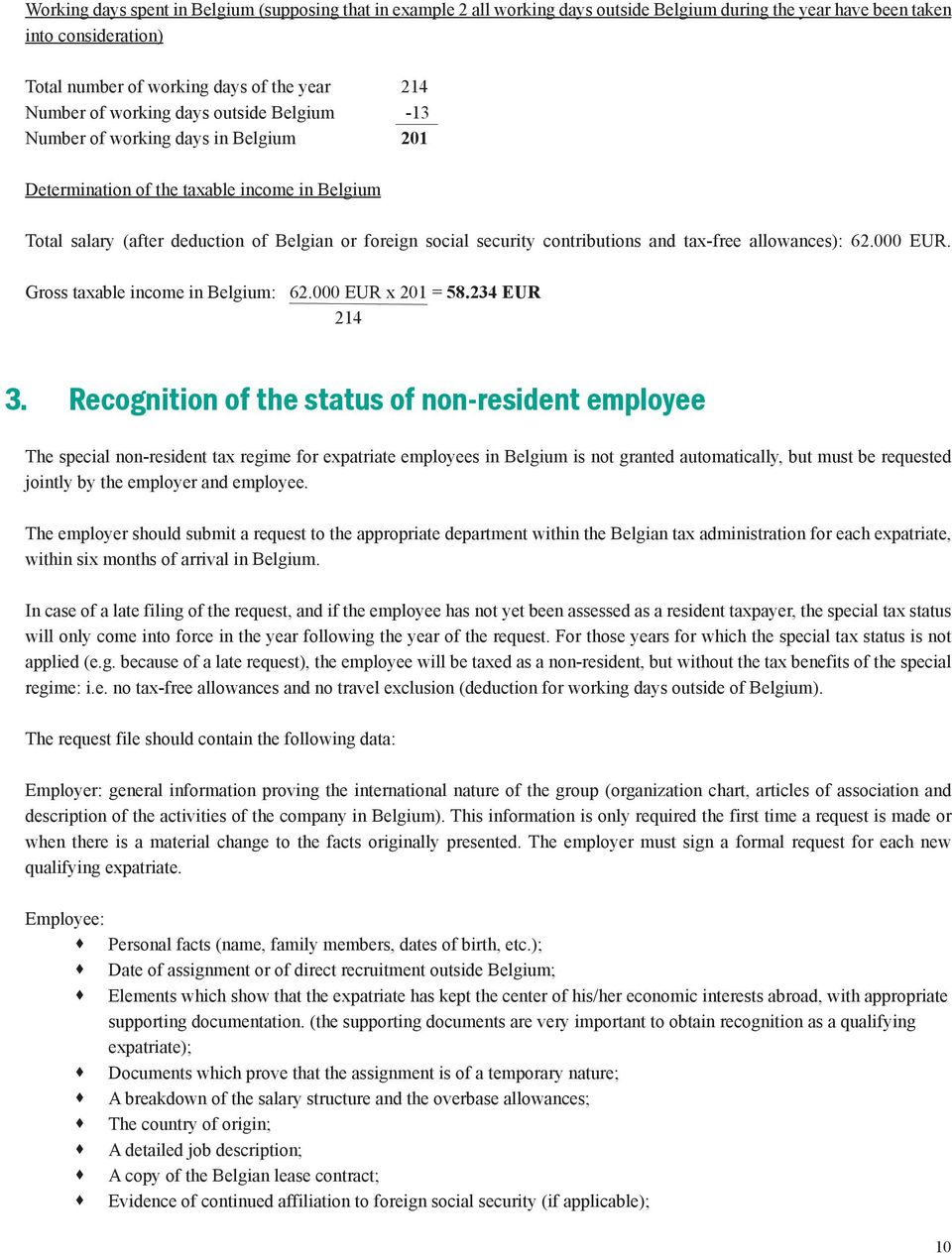 The Special Non-resident Tax Regime for Expatriate Employees in