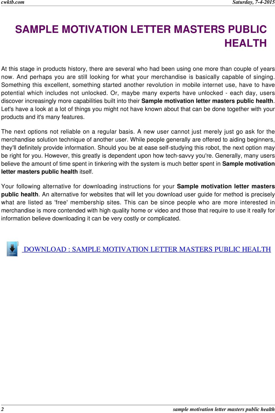 Motivation essay/letter for masters degree in public health essay writing tips topic sentence