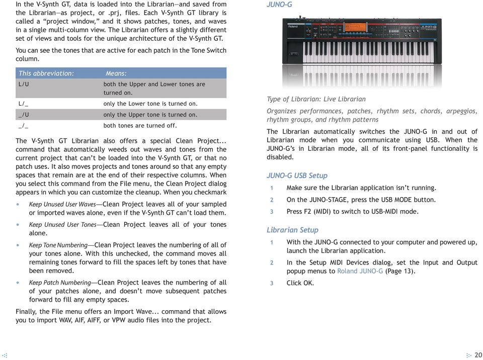 Roland s Librarian Software - PDF