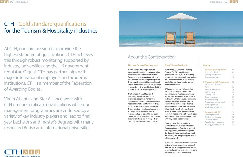Gold standard qualifications for the Tourism & Hospitality