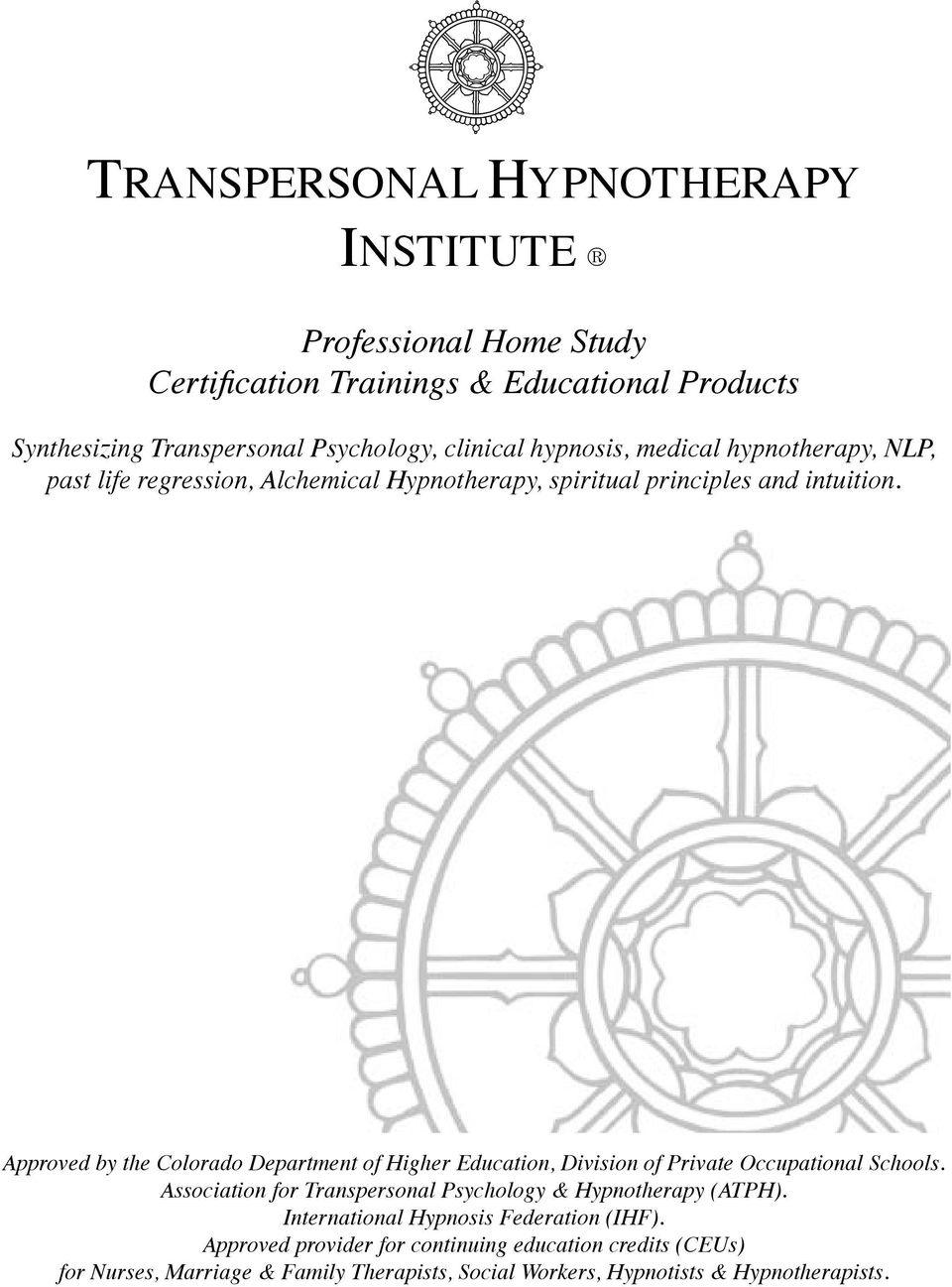 TRANSPERSONAL HYPNOTHERAPY INSTITUTE - PDF