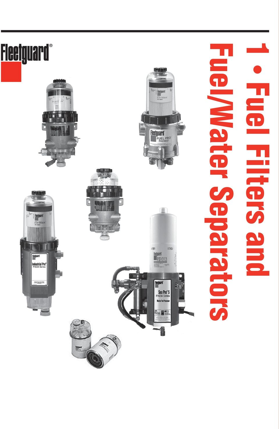 1 Fuel Filters And Water Separators Pdf Compact 2 Introduction Suggested Filtration Systems By Engine Size Filter Elements Application Diverter Caps Diesel Pro