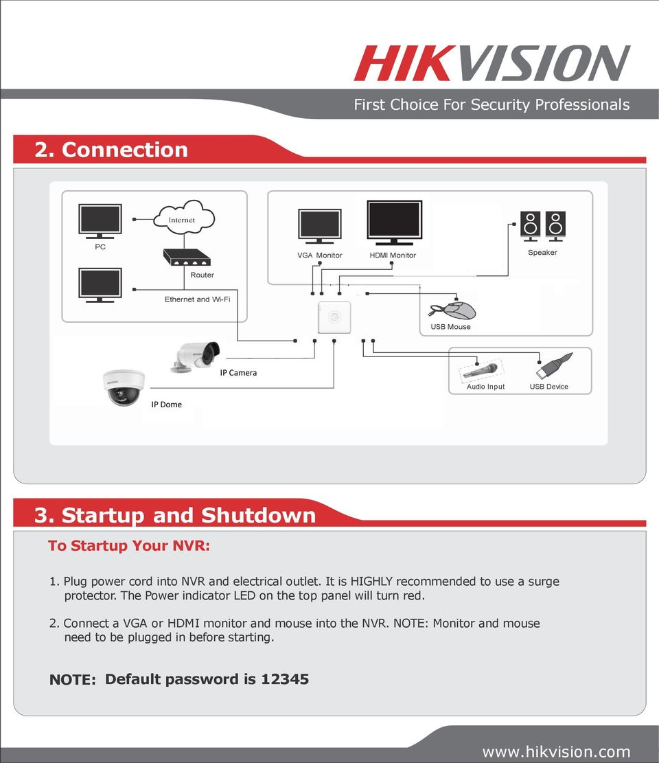 Quick Start Guide NVR DS-7104NI-SL/W NVR  First Choice For Security
