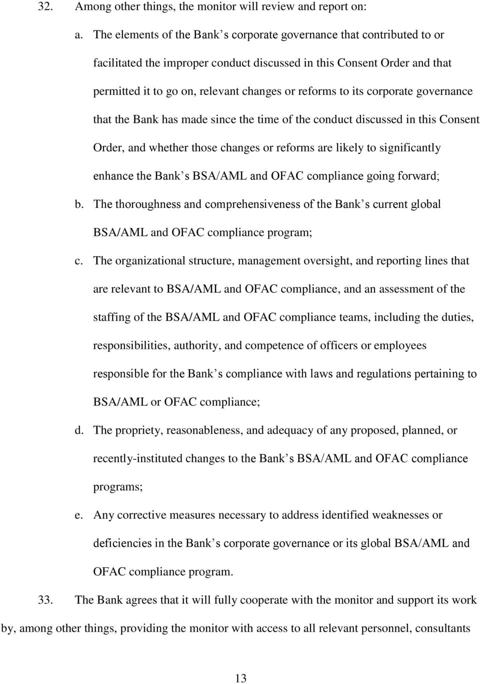 CONSENT ORDER UNDER NEW YORK BANKING LAW 39 and 44  The New