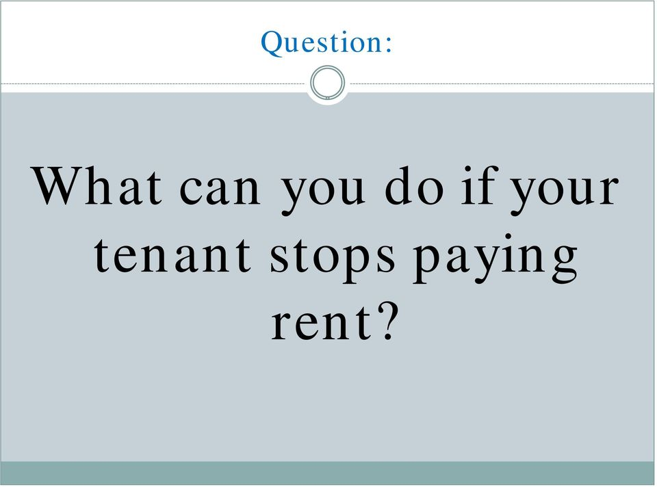 your tenant