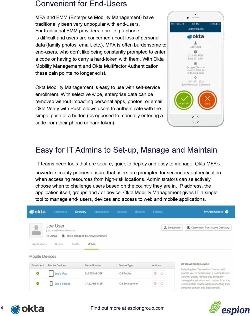Securing your Mobile Workforce with Okta and Espion - PDF