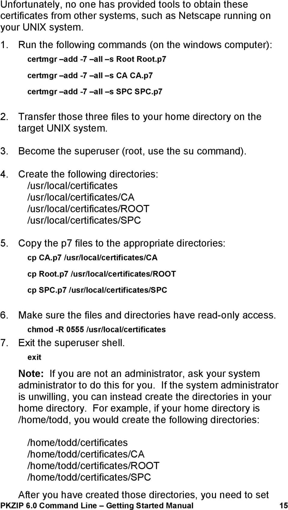 PKZIP 6 0 Command Line Getting Started Manual - PDF
