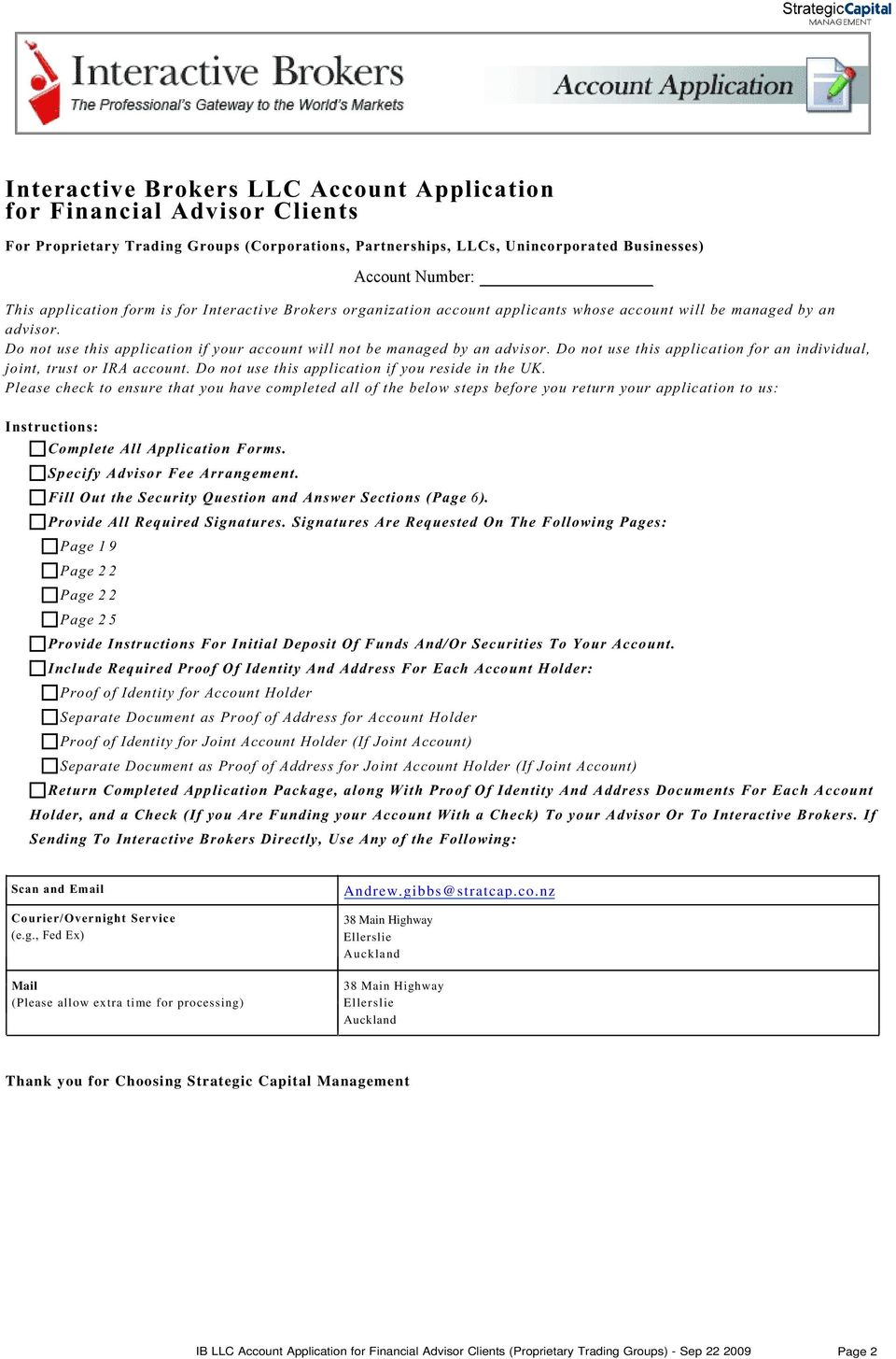 Account Opening Agreement Introducing Broker Agreement - PDF