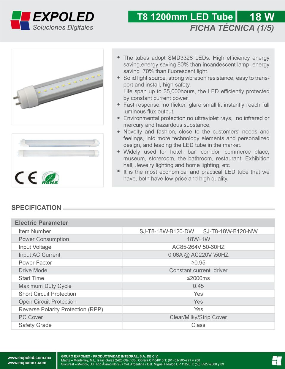 T8 1200mm Led Tube 18 W Ficha Tcnica 1 5 Pdf 1500mm Light Circuit Diagram Buy Fast Response No Flicker Glare Smalllit Instantly Reach Full Luminous Flux Output