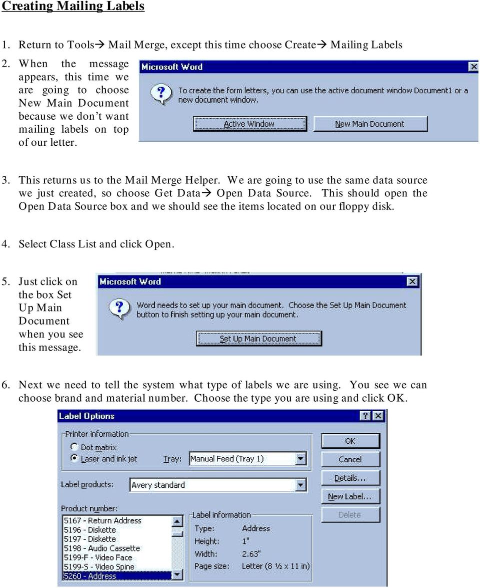 Using Mail Merge to Create Form Letters and Labels - PDF