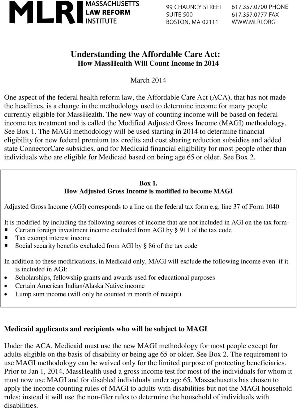 Understanding the Affordable Care Act: How MassHealth Will