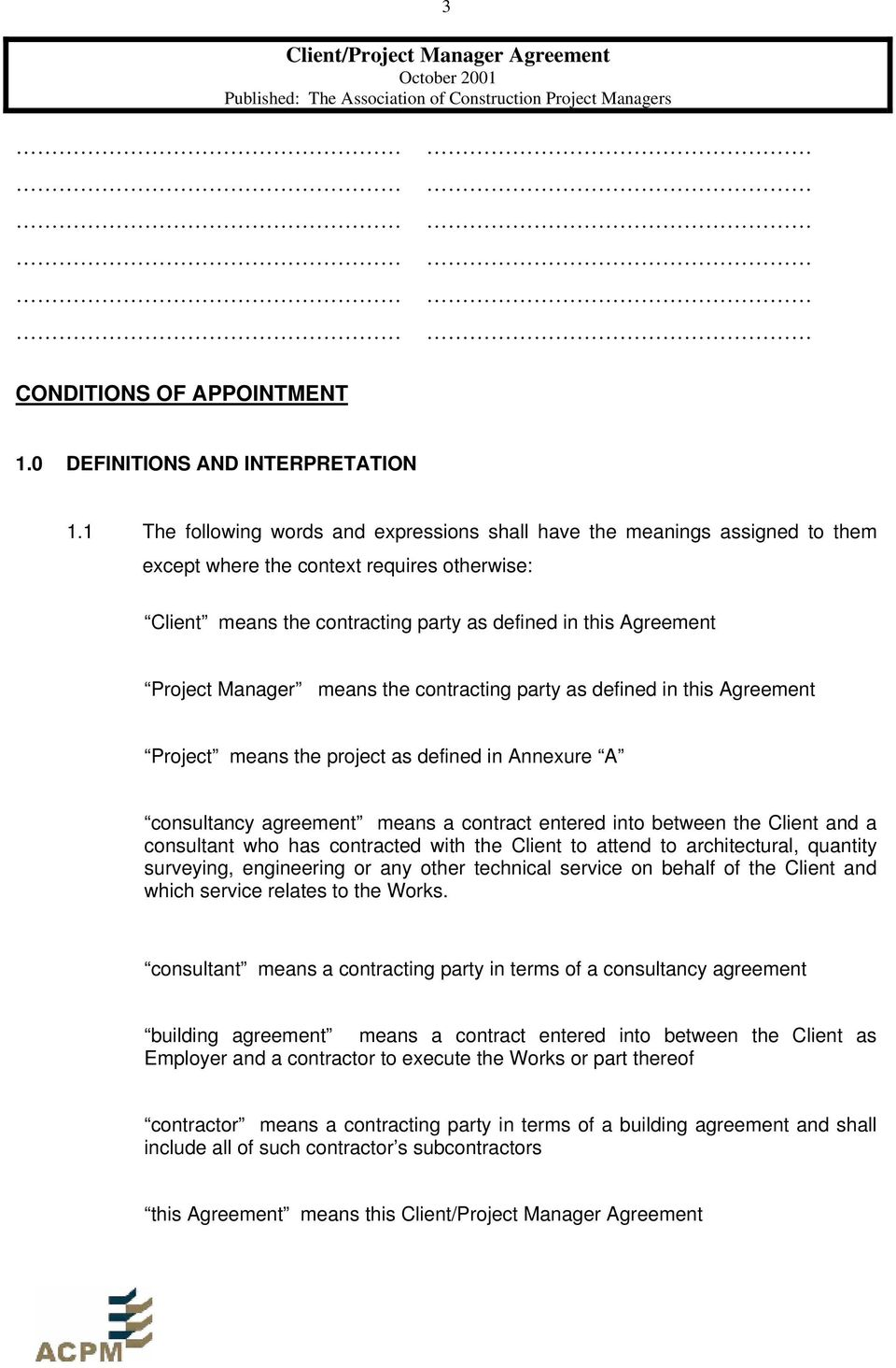 Client Project Manager Agreement Pdf
