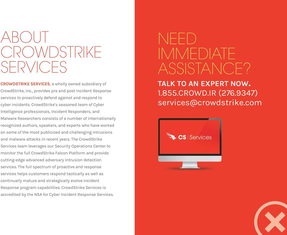 CROWDSTRIKE // WHITE PAPER CYBER ATTACK SURVIVAL CHECKLIST - PDF