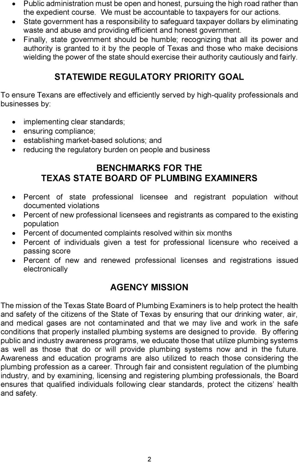 TEXAS STATE BOARD OF PLUMBING EXAMINERS - PDF