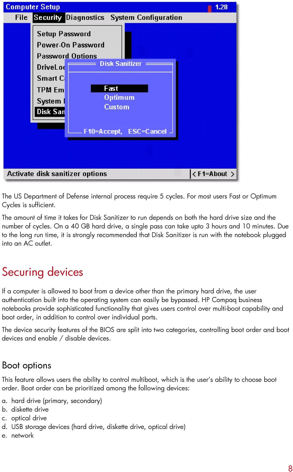 Firmware security features in HP Compaq business notebooks - PDF