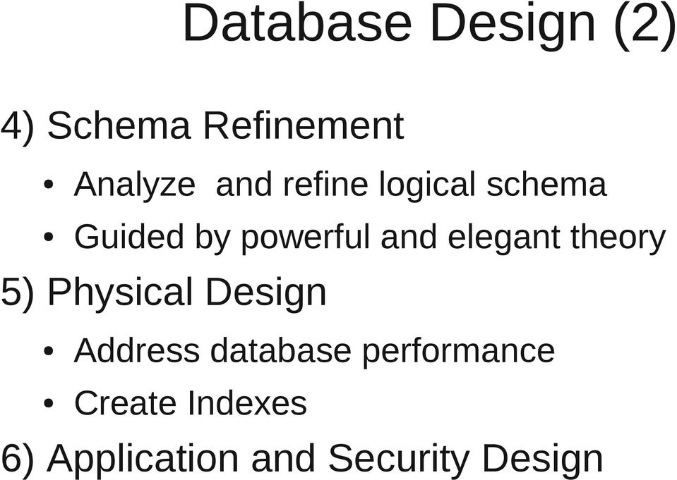theory 5) Physical Design Address database