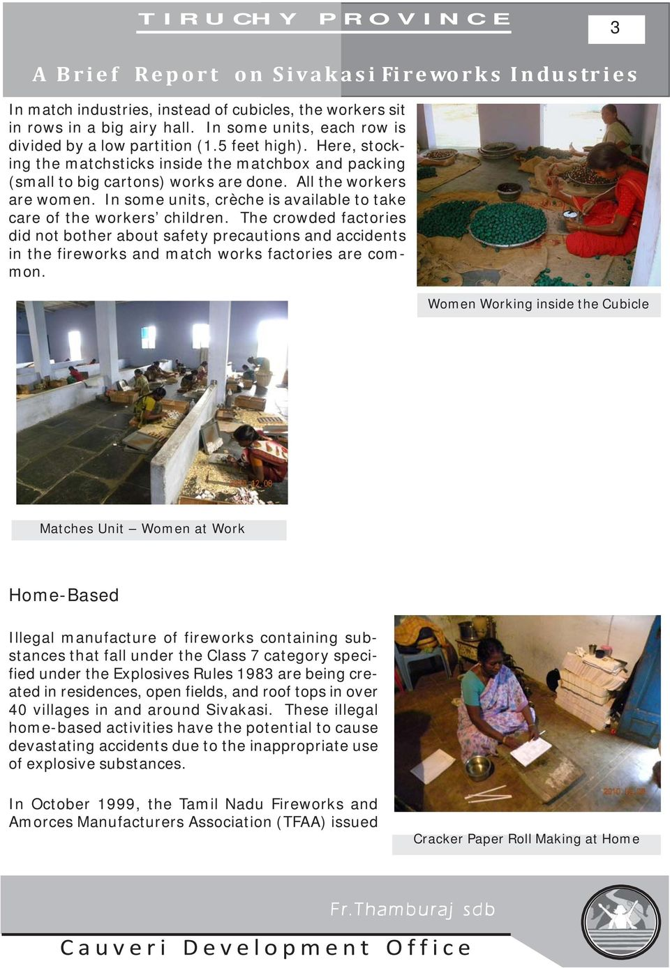 A BRIEF REPORT ON SIVAKASI FIREWORKS INDUSTRIES - PDF Free