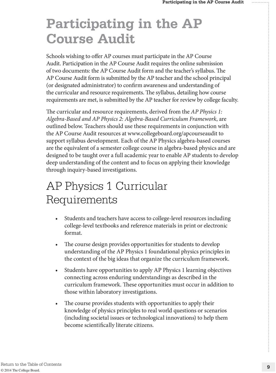 AP PHYSICS 1: ALGEBRA-BASED AND AP PHYSICS 2: ALGEBRA-BASED