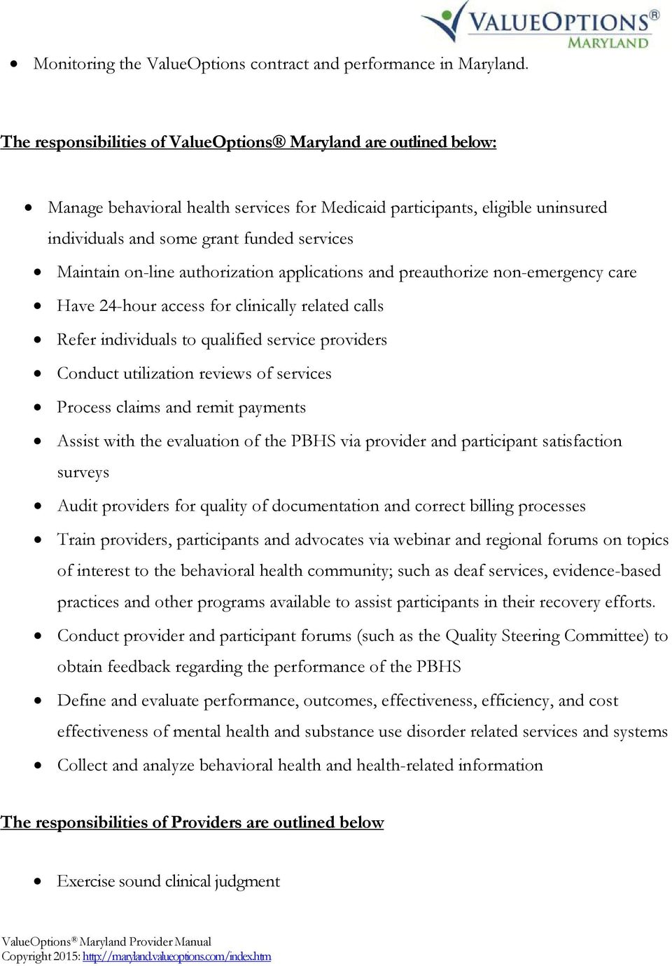 Welcome To The Maryland Public Behavioral Health System Pdf