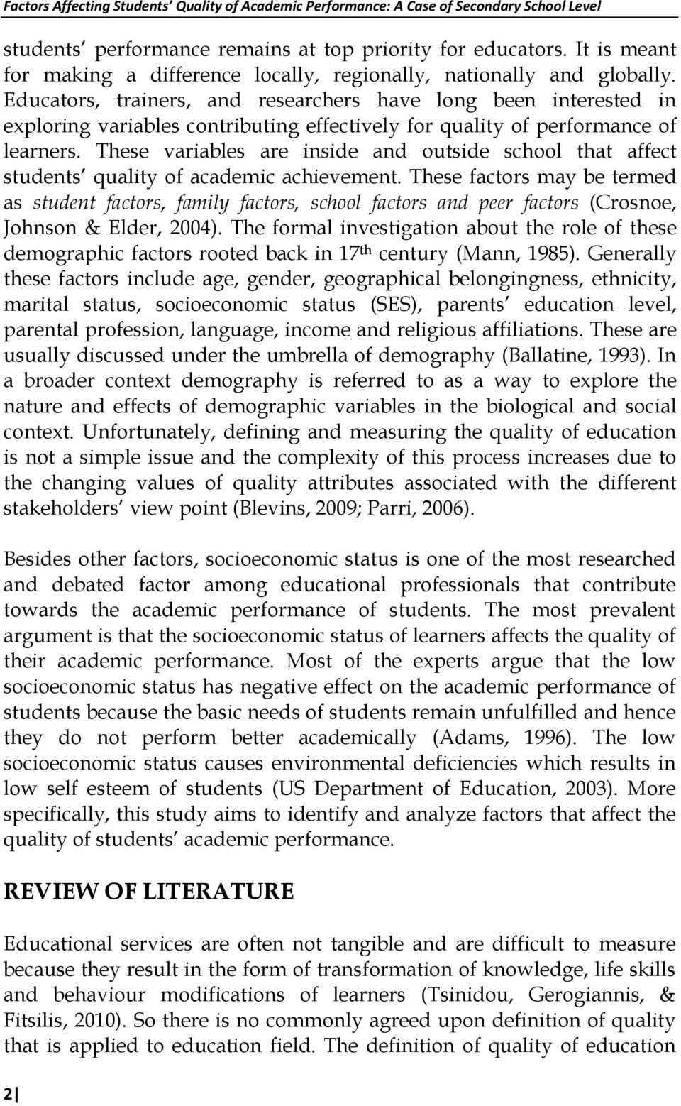 factors affecting behaviour of learners
