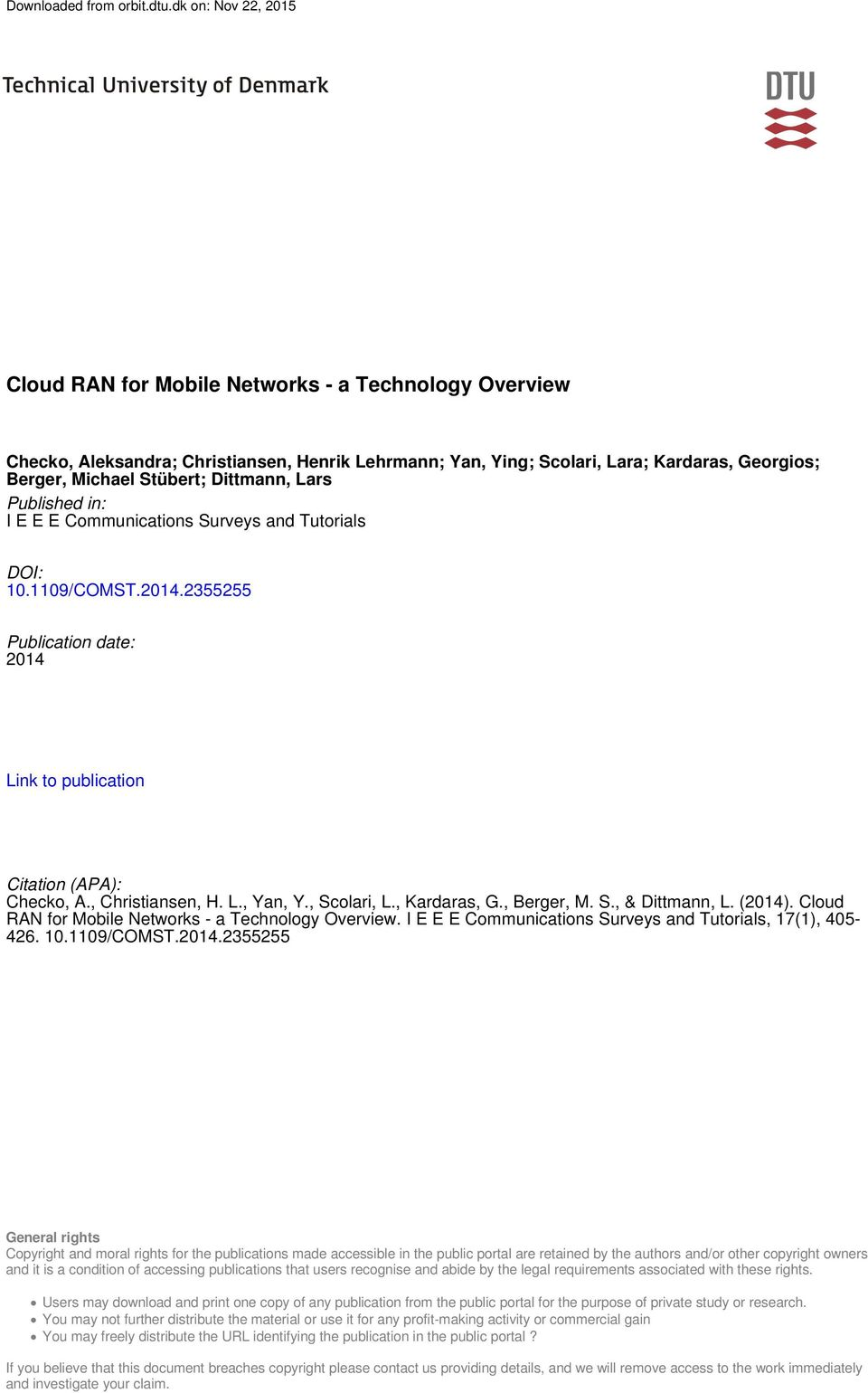 Cloud RAN for Mobile Networks - a Technology Overview - PDF