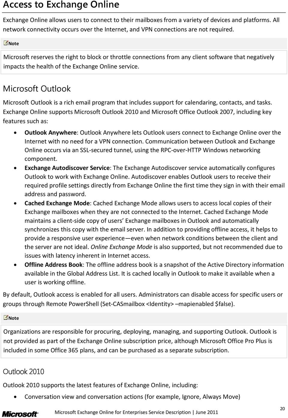 Microsoft Exchange Online for Enterprises - PDF