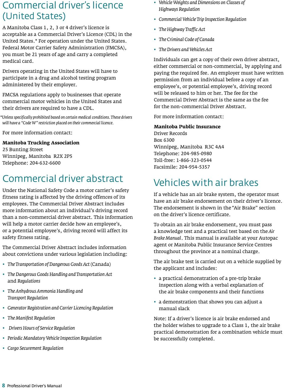 what is a commercial drivers abstract