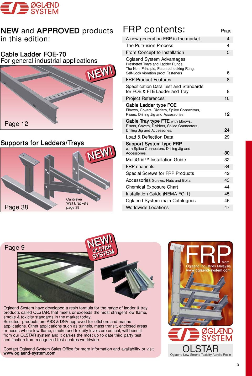 FRP CABLE LADDERS, TRAYS AND SUPPORT SYSTEM - PDF