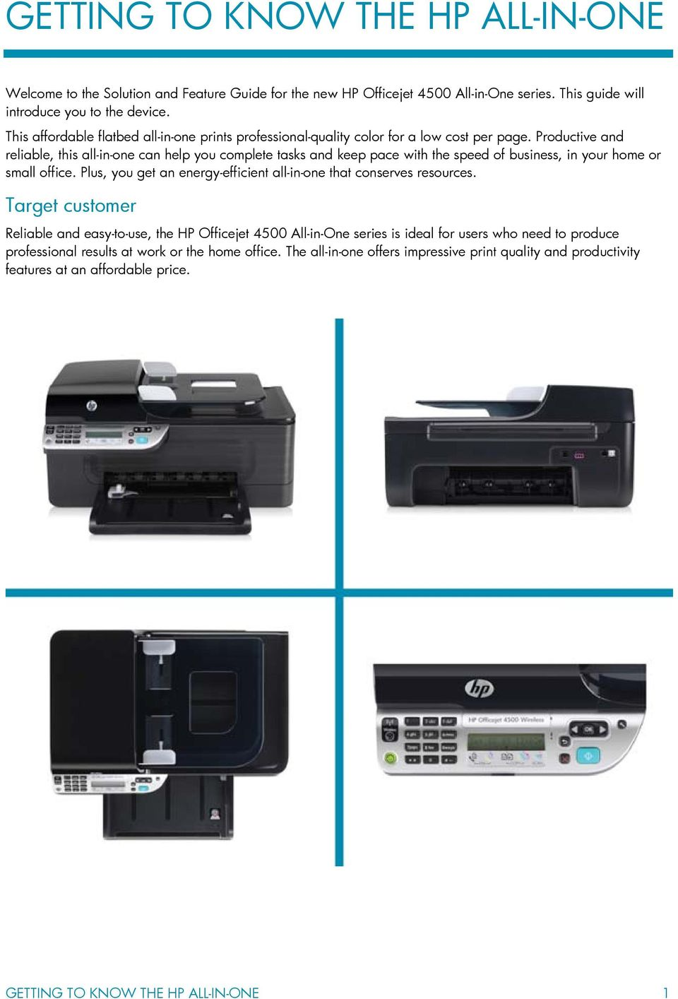 HP Officejet 4500 All-in-One series - PDF