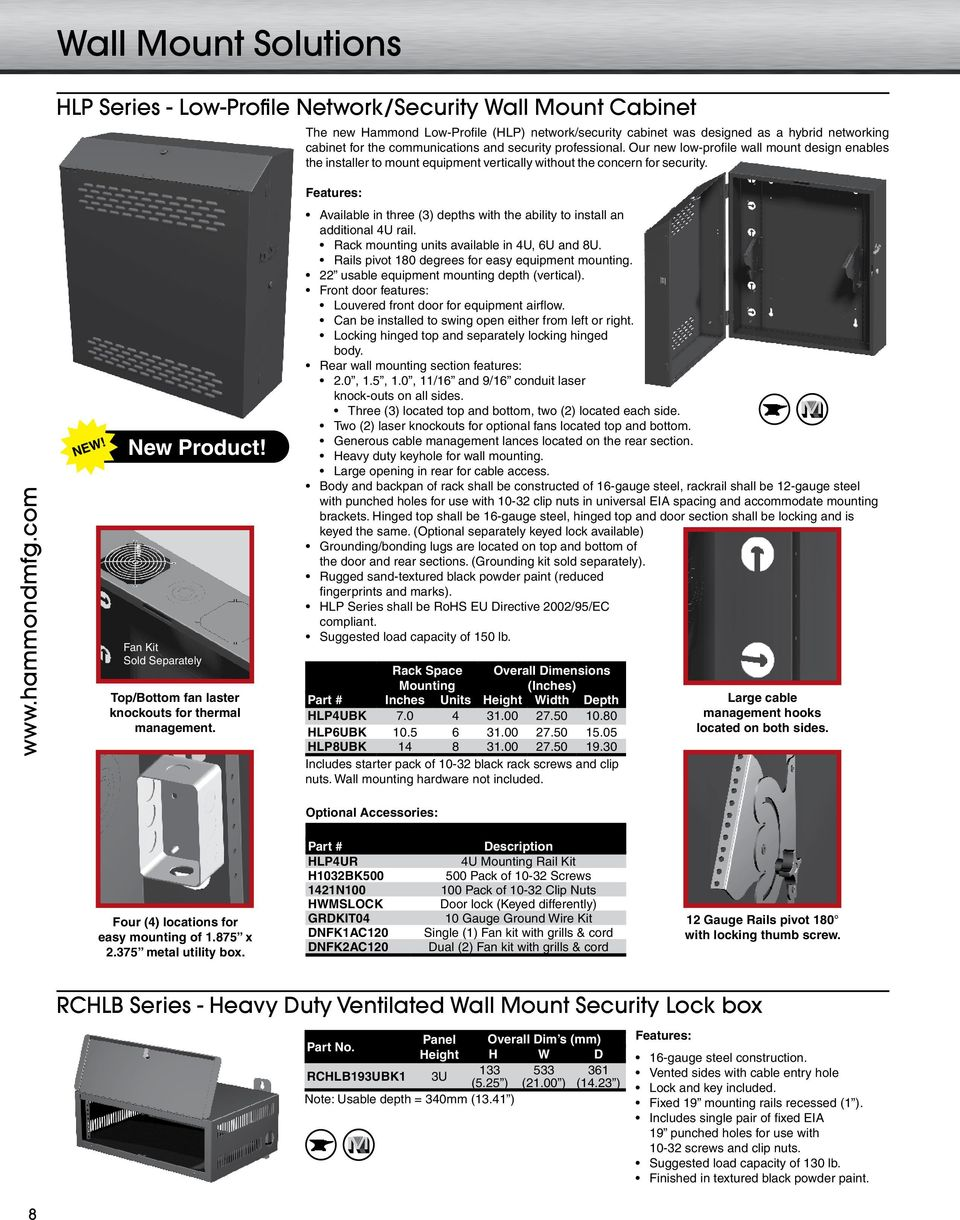 RACK & CABINET QUICK REFERENCE PRODUCT GUIDE - PDF
