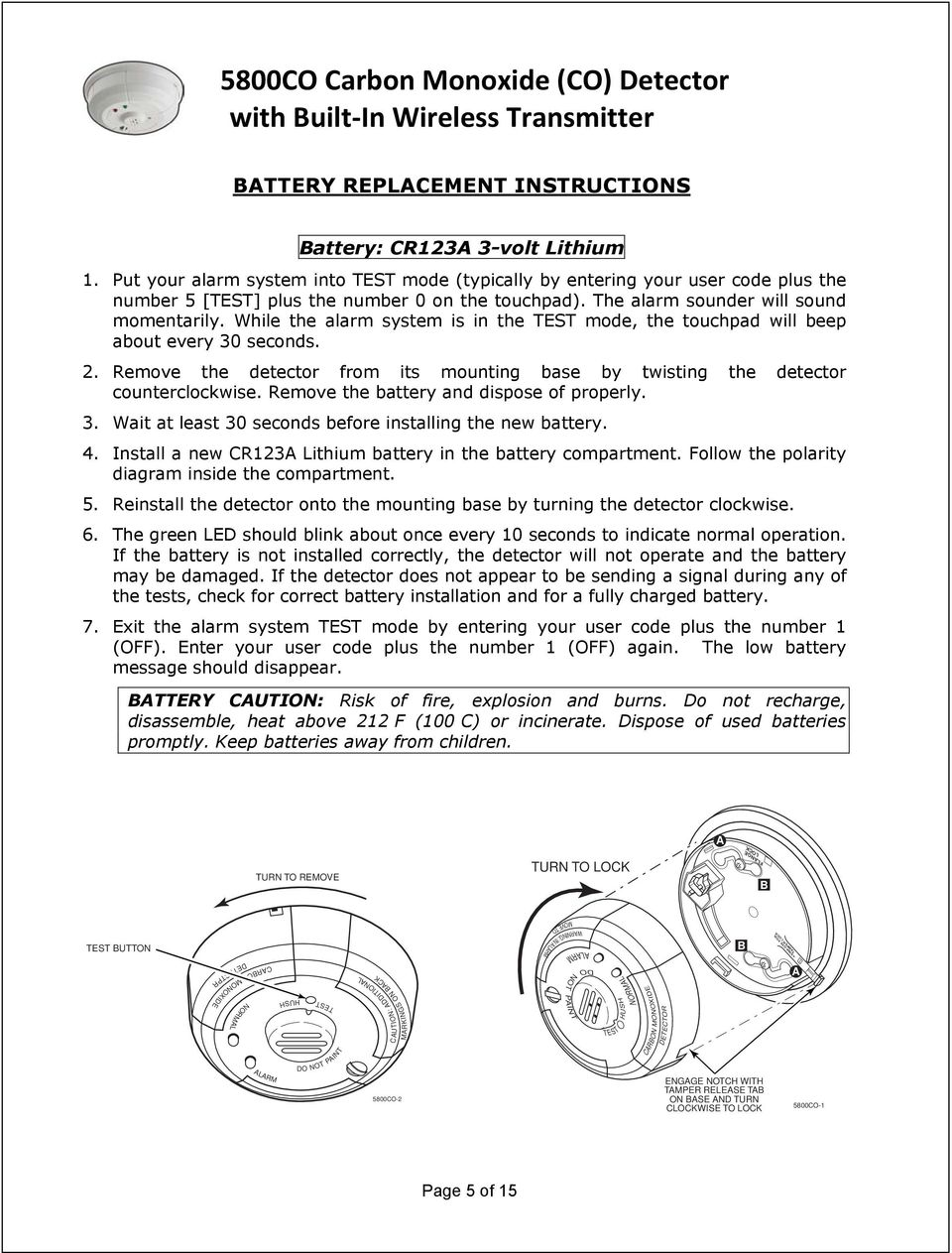 WIRELESS SENSOR BATTERY REPLACEMENT INSTRUCTIONS For