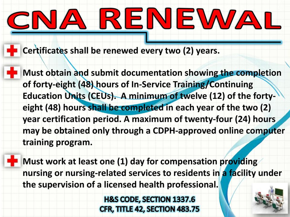 How To Renew Your Certified Nurse Assistant Cna Home Health Aide